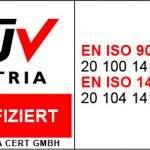 Siegel: Zertifiziert von TÜV Austria